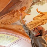 Возобновились работы по росписи зимней церкви Воскресенского собора Арзамаса