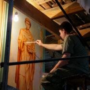 Продолжается роспись зимней церкви Воскресенского собора Арзамаса