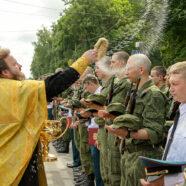 В Арзамасе состоялось принятие присяги молодым пополнением воинской части № 17845