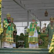 Святейший Патриарх Кирилл совершил Божественную литургию в Серафимо-Дивеевском монастыре
