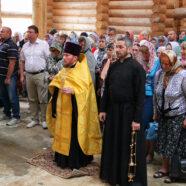 В строящейся в Арзамасе Петропавловской церкви состоялось первое богослужение