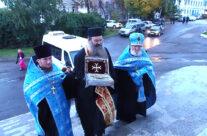 В Арзамасе побывал ковчег с частицей Животворящего Креста Господня из монастыря Кутлумуш на Святой горе Афон