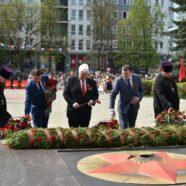 Духовенство благочиния города Арзамаса приняло участие в митинге, посвященном 74-ой годовщине Победы в Великой Отечественной войне 1941- 1945 гг.